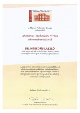 Akadémiai-Szabadalmi Nívódíj (Hegedűs László)