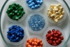 Coloring granules used in polymer composites
